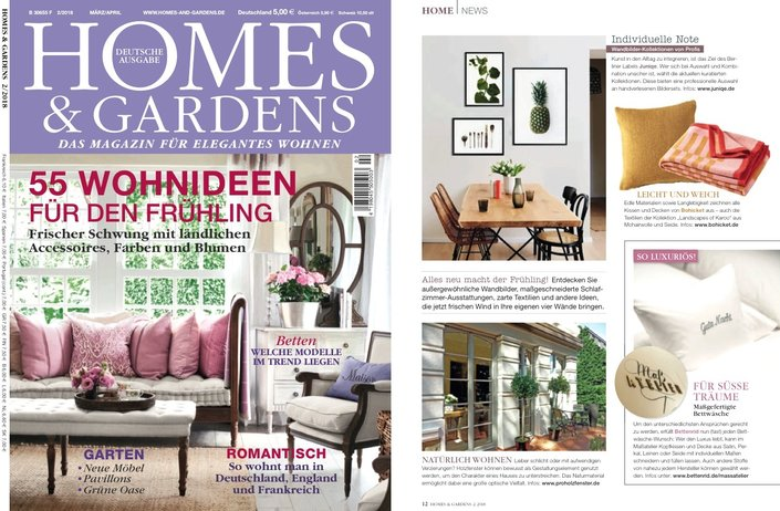 Bohicket in der Homes and Gardens 03/2018