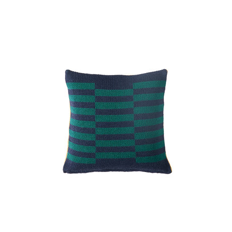 Bohicket knitted cushion - Bluegreen Sandstone - Merino & Kid Mohair