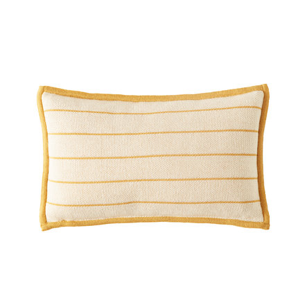 Bohicket stripe cushion - White Golden Stripes - Merino & Kid Mohair