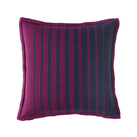 Bohicket stripe cushion - Ruby Shadow - Merino & Kid Mohair