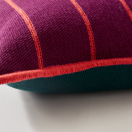 Bohicket cushion - Ruby Sunset Stripes - Merino & Kid Mohair